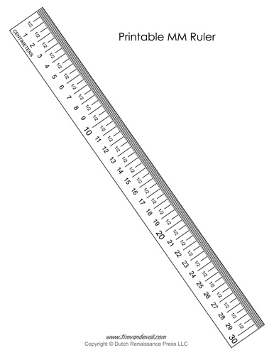 photo about Printable Tape Measure Inches referred to as Printable MM Ruler - Tims Printables