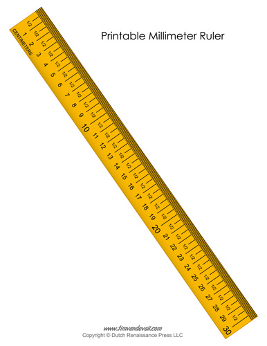Printable Millimeter Ruler