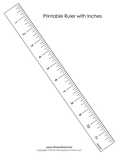 Printable Ruler with Inches