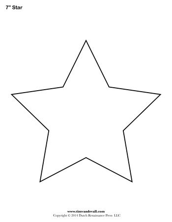 Effortless image regarding star templates printable