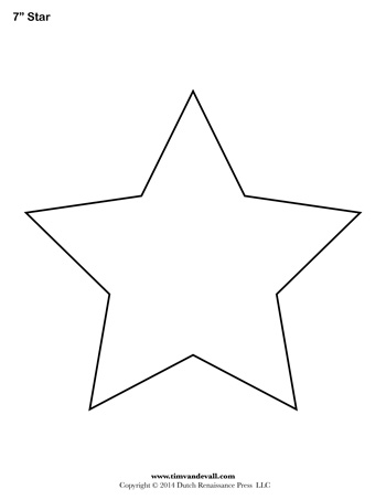 photo regarding Printable Star Template named Star Template - 7 Inch - Tims Printables