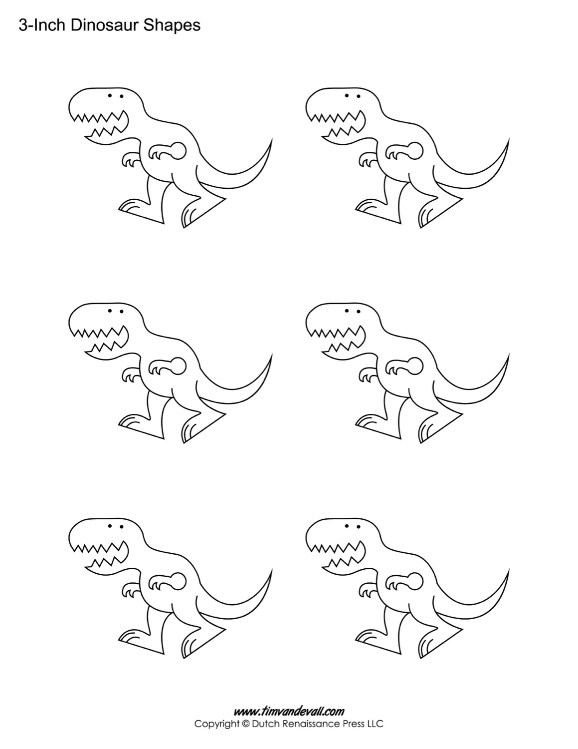 image relating to Dinosaur Template Printable called Dinosaur Templates Absolutely free Printable Dinosaur Condition PDFs