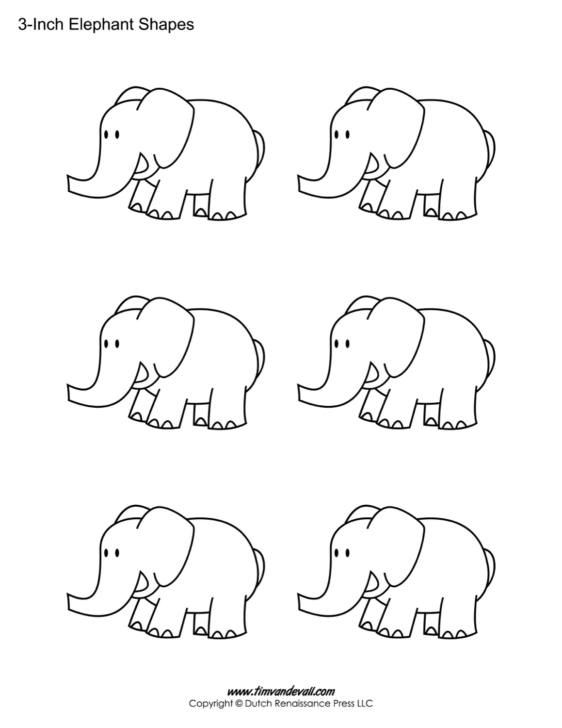 Elephant preschool worksheet elephant best free for Elephant template for preschool