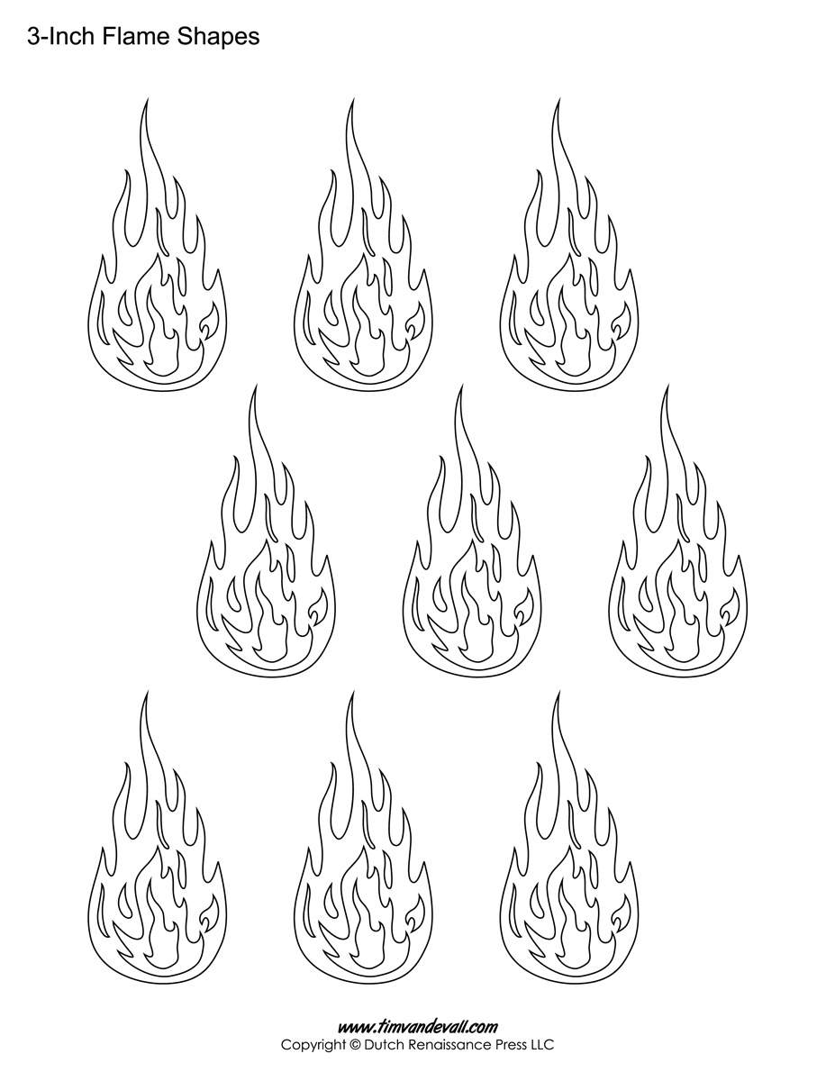 printable flame stencils