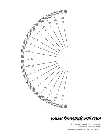 photo about 360 Degree Protractor Printable known as Printable Protractor - Clipartsco. Protractor Befltk