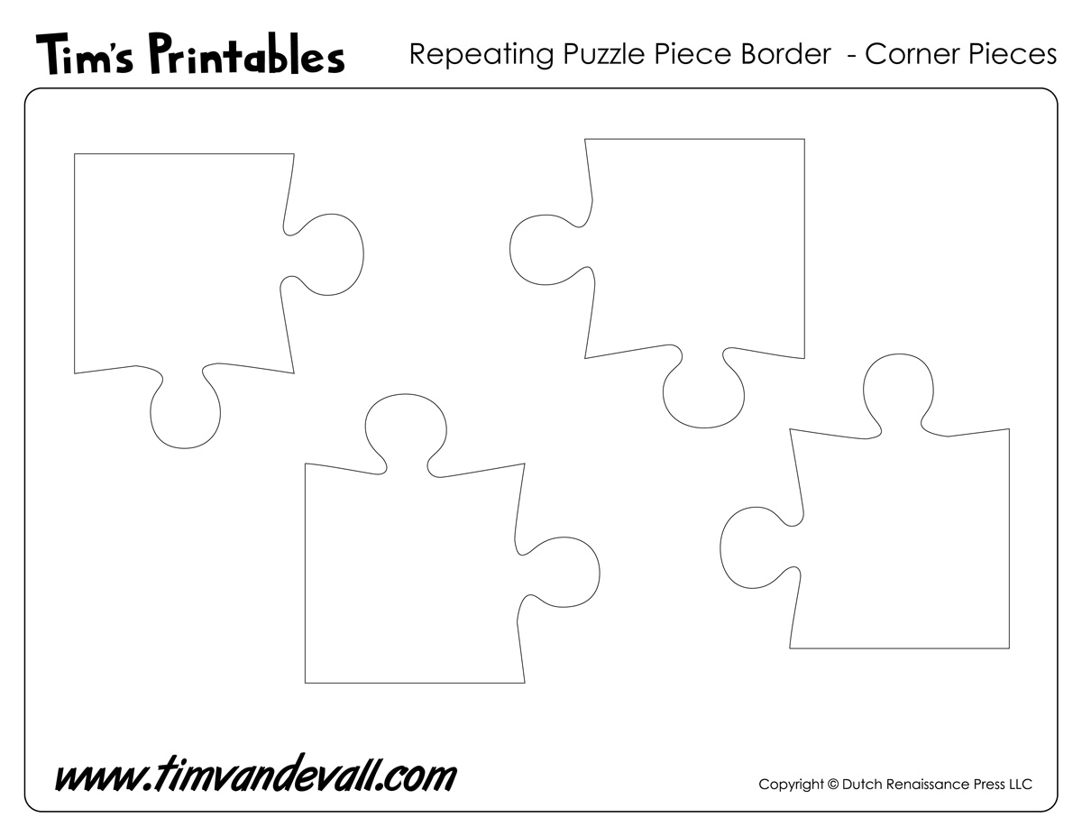 Printable Puzzle Piece Corners - Tim van de Vall