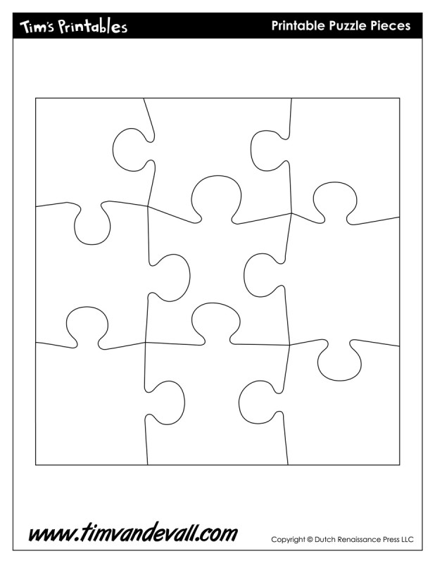 Invaluable image inside printable puzzle template