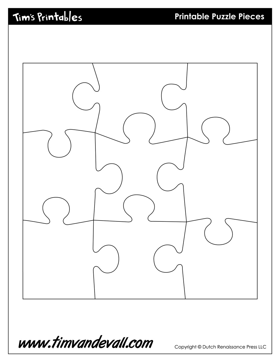 photo about Printable Blank Puzzle named Blank Puzzle Piece Template - Absolutely free Solitary Puzzle Piece