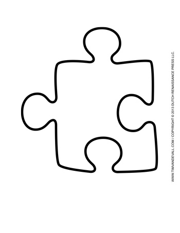 Puzzle piece template 5 tim 39 s printables for Puzzle cut out template