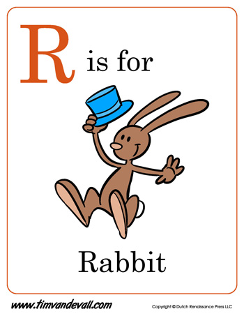 R Is For Ring Coloring Pages R is for Rabbit | Lett...