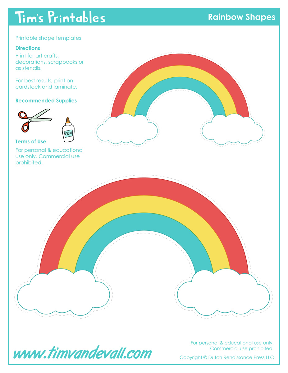 It is a graphic of Gorgeous Free Printable Rainbow
