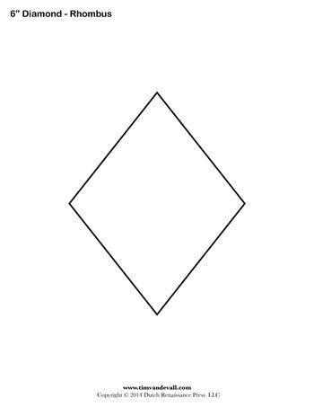 diamond templates printable rhombus shapes blank pdfs