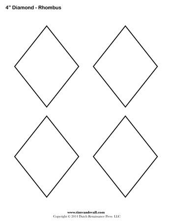 Diamond Templates | Printable Rhombus Shapes | Blank PDFs