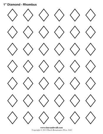 Diamond templates printable rhombus shapes blank pdfs blank diamond template maxwellsz