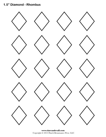 Diamond Templates 1 5 Inch Tim S Printables