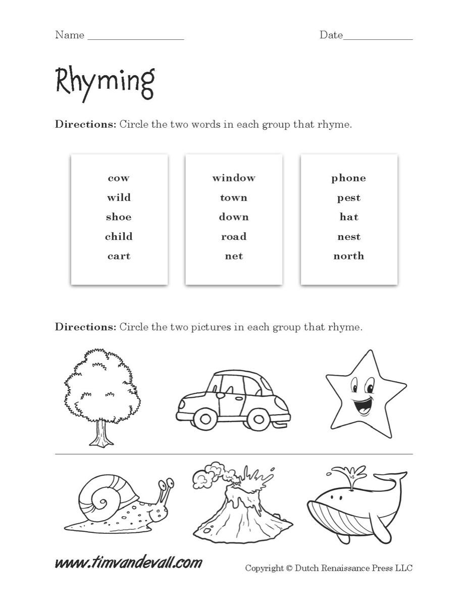 Worksheets Rhyming Worksheet rhyming worksheet 02 tims printables 02