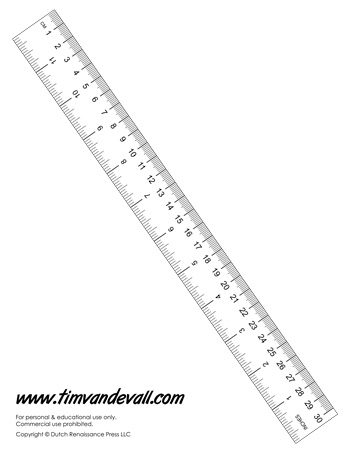 Simplicity image in printable ruler inches