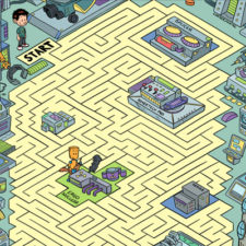 Science Lab Maze