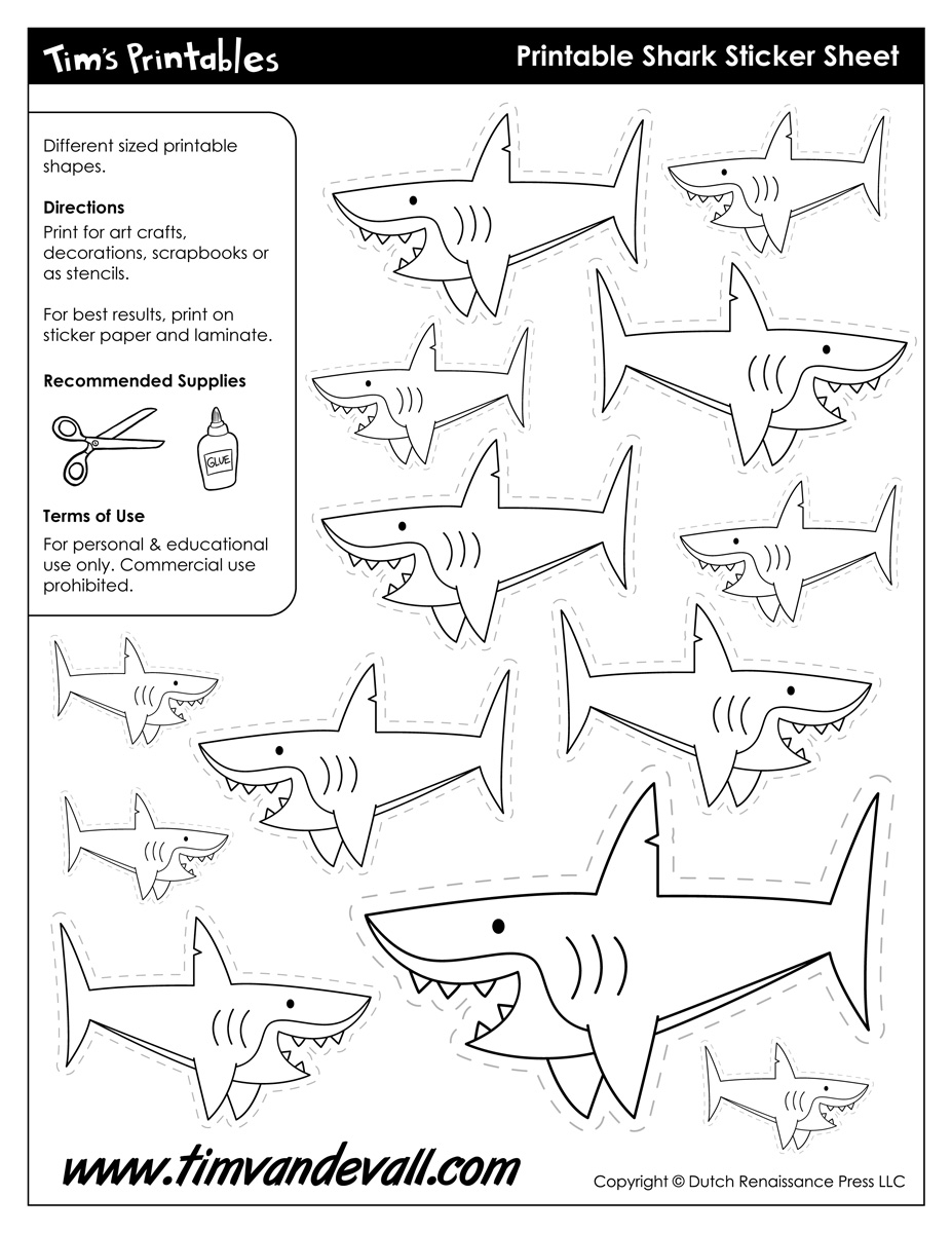 photo relating to Shark Stencil Printable named Printable Shark Templates
