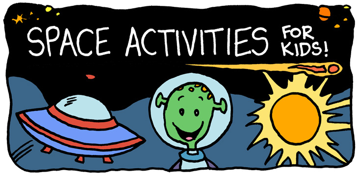 picture about Space Printable known as Printable Place Things to do for Young children - Tims Printables