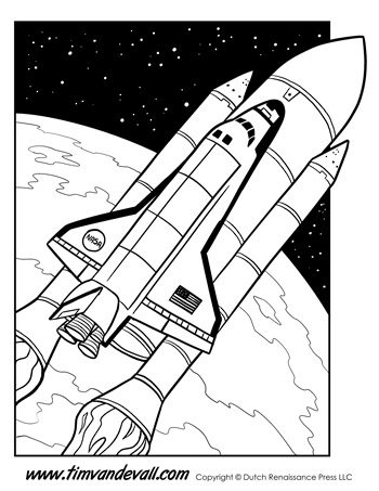 Space-Shuttle-Coloring-Page-350 - Tim\'s Printables