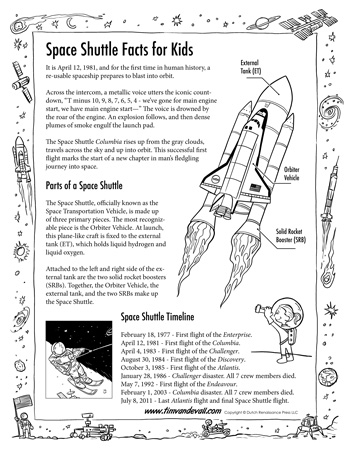 Space Shuttle Facts for Kids | Science Printables