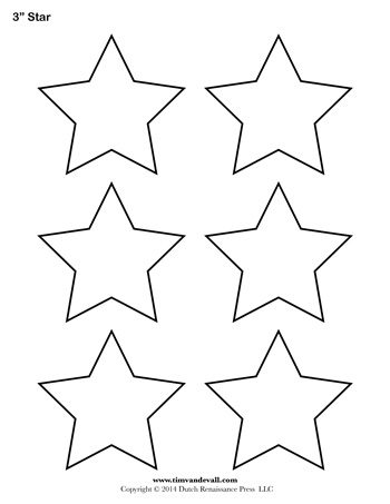 Star Template   Inch  TimS Printables