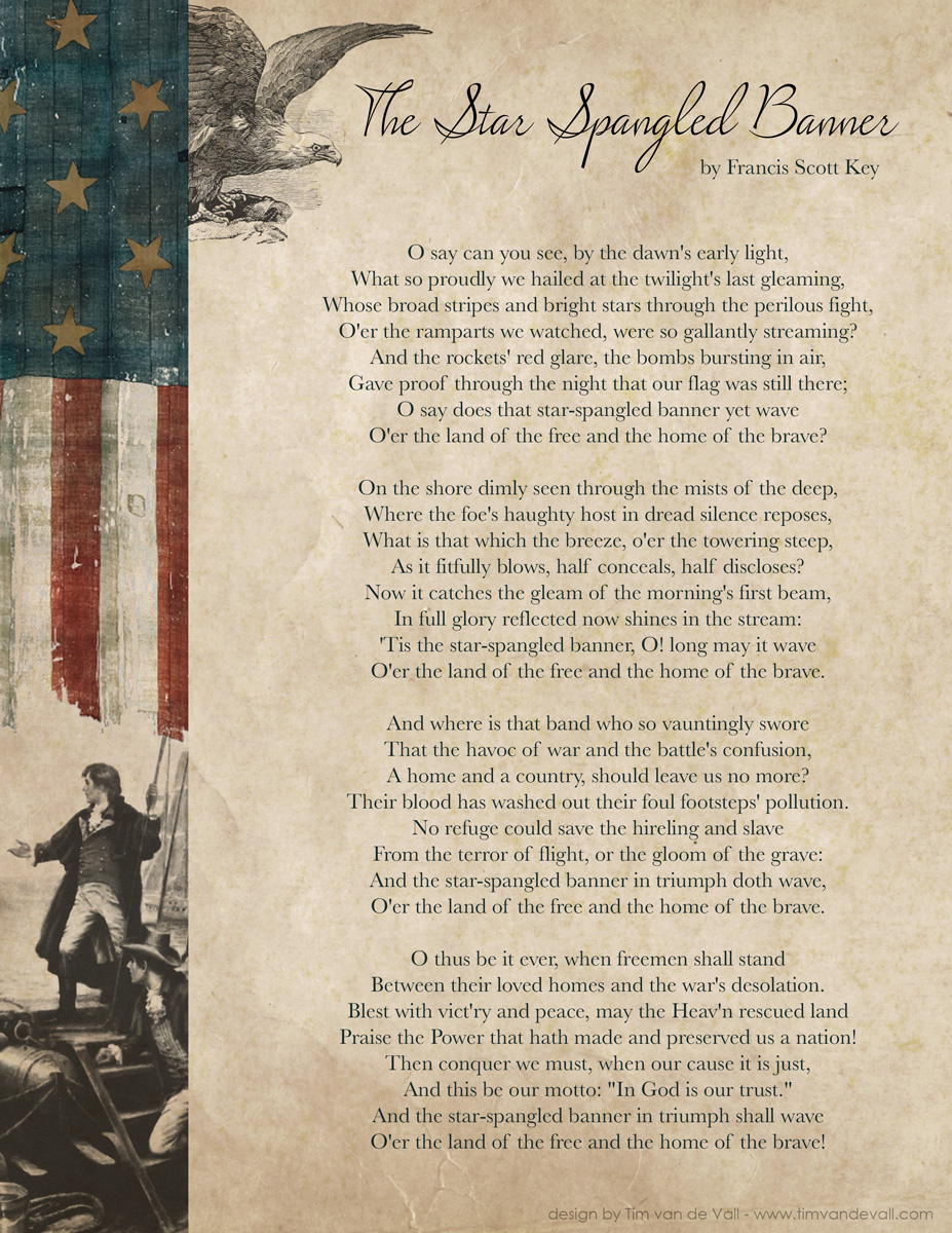 Star Spangled Banner Lyrics
