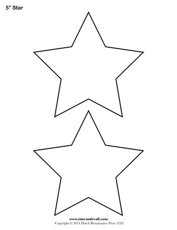 Versatile image for free printable star template