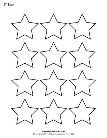 Star Template - 2 Inch - Tim van de Vall