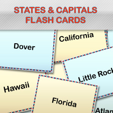 Mesmerizing image intended for state and capitals flash cards printable