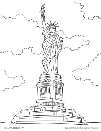picture about Printable Statue of Liberty Template identify Statue of Independence Coloring Web site - Tims Printables