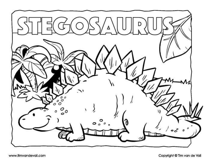 - Stegosaurus Coloring Page - Dinosaur Coloring Pages - Tim's Printables