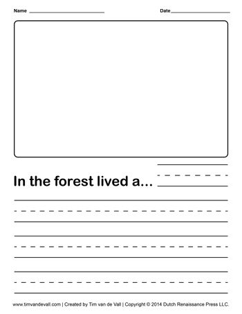Blank Street Map Template For Kids