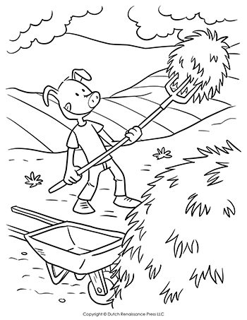 Straw-Pig-Coloring-Page-350