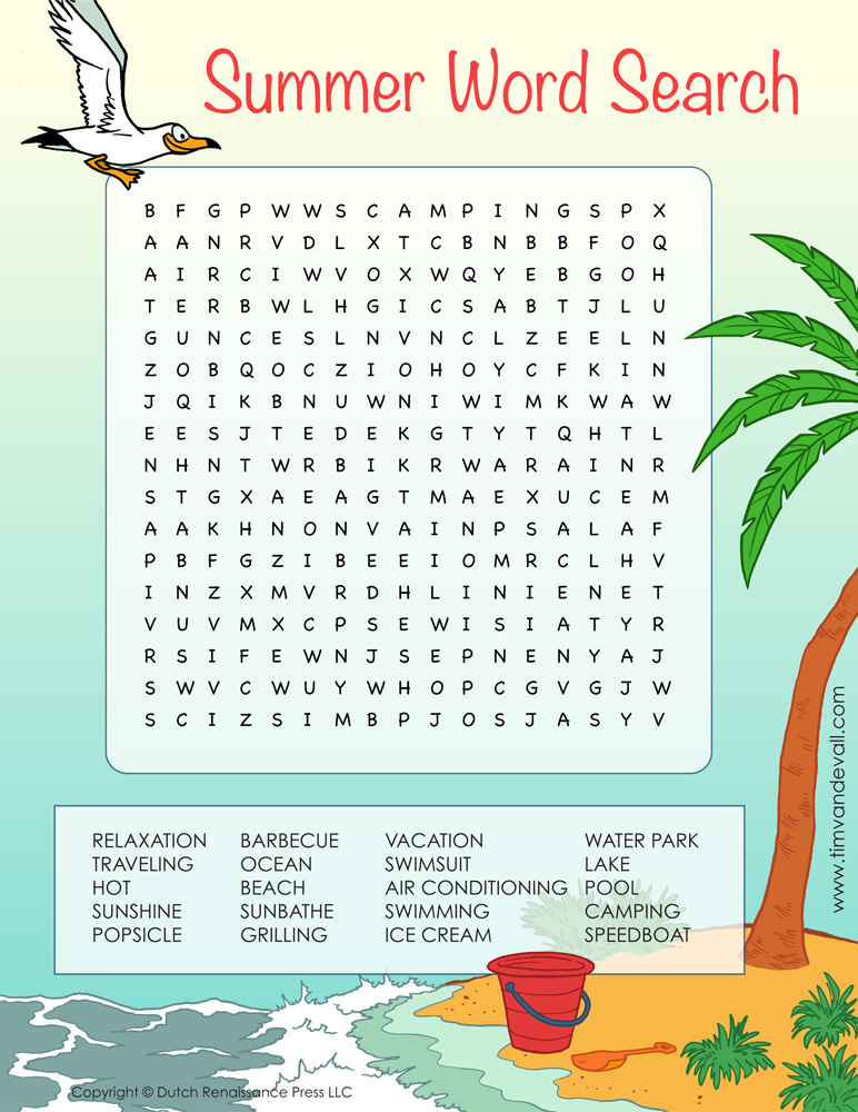 It's just a photo of Magic Summer Word Search Printable
