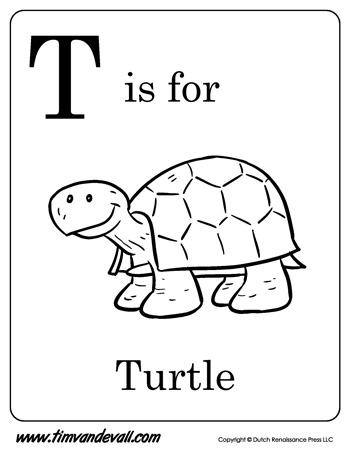 T is for Turtle Printable Tim 39 s