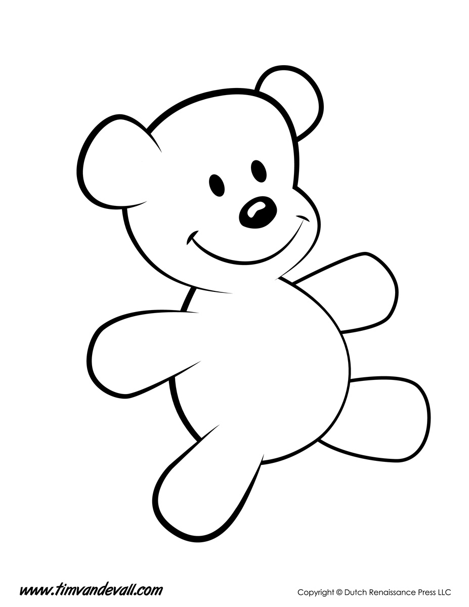 Teddy Bear Coloring Page Tim 39 s