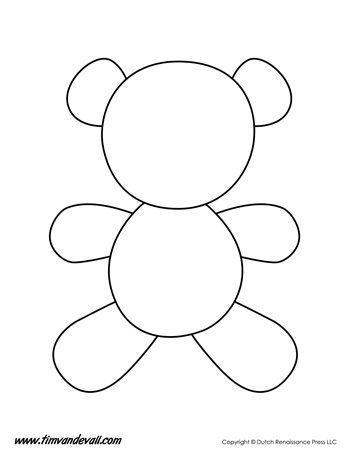 Teddy bear template tim 39 s printables for Teddy bear pop up card template free