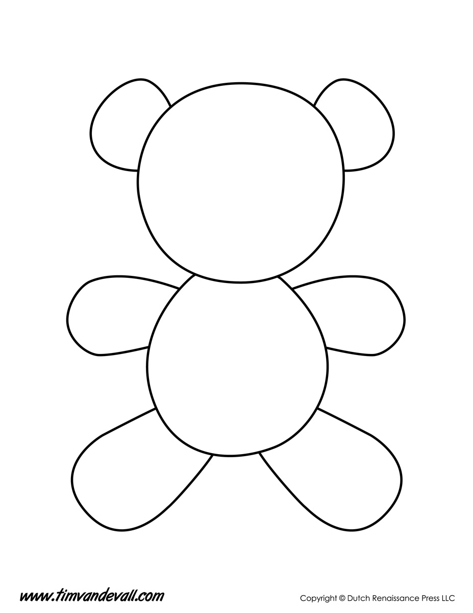 Teddy bear template tims printables
