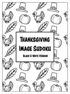 Thanksgiving Image Sudokus - Black & White