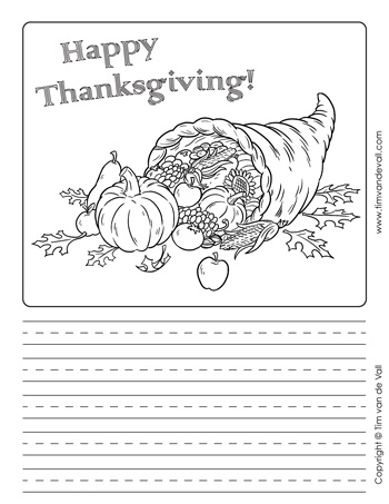 cornucopia writing paper template