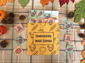 thanksgiving image sudoku activity