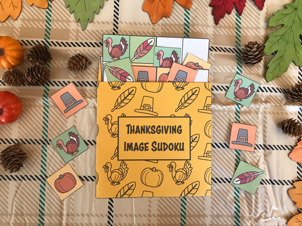 thanksgiving image sudoku activity