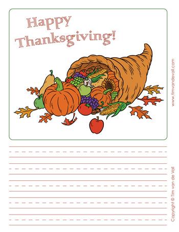 printable thanksgiving writing paper