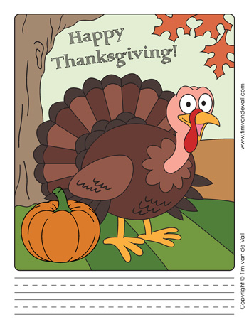thanksgiving writing paper template
