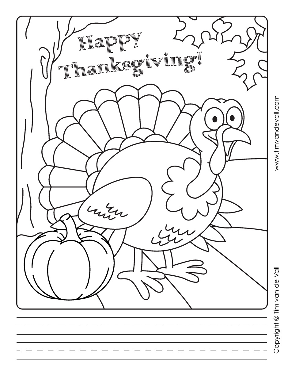 Thanksgiving Writing Paper 3