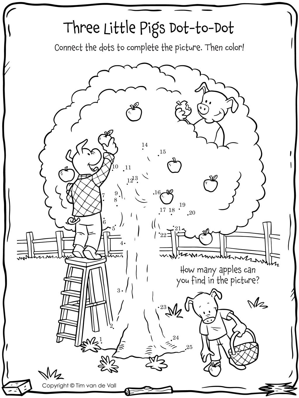Three Little Pigs Dot To Dot Tim S Printables