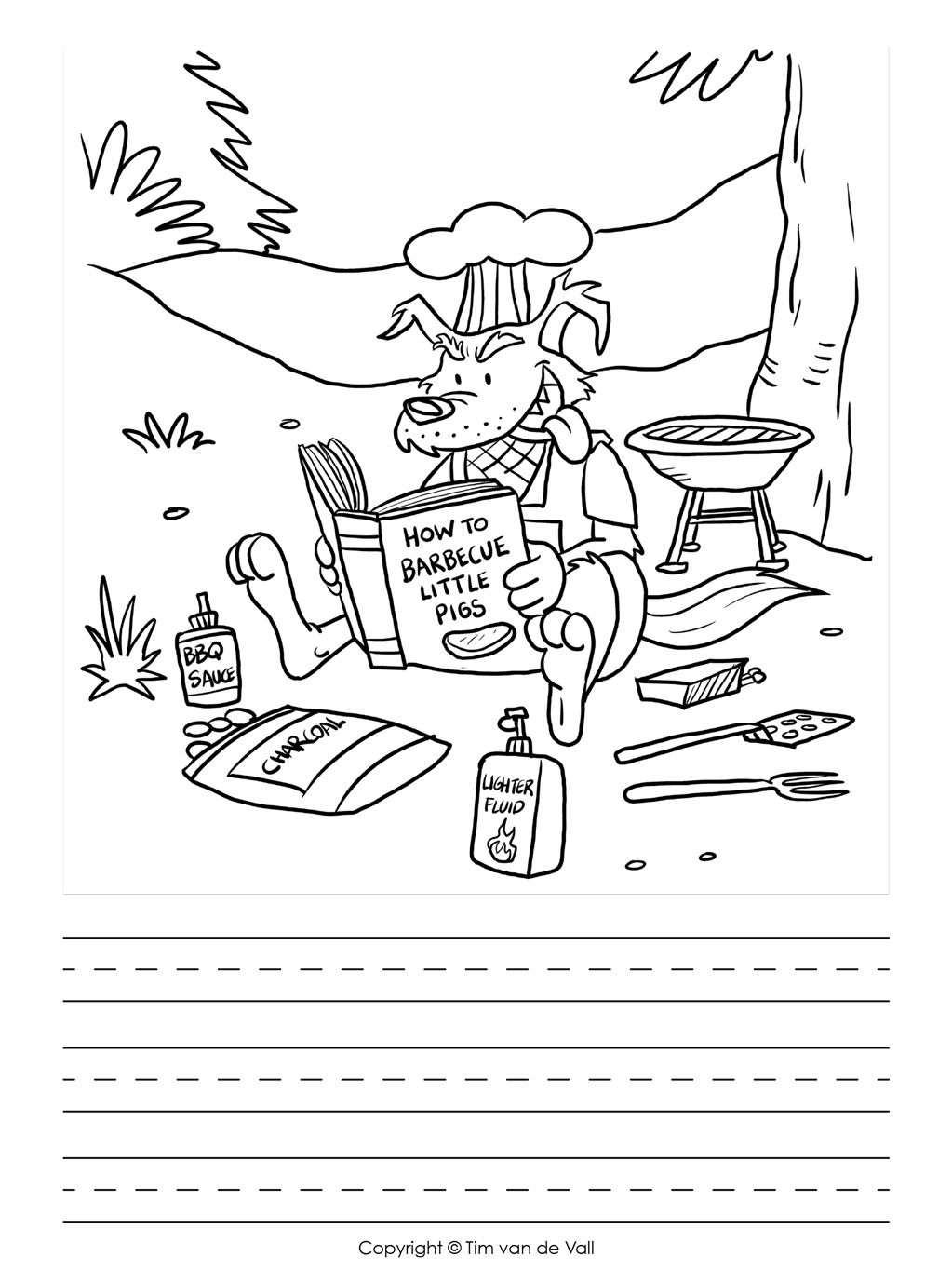 Three Little Pigs Writing Template