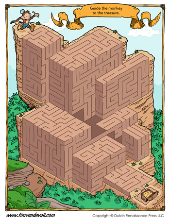 free maze printable activity